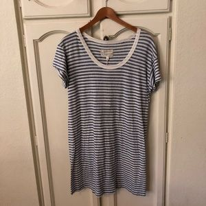 ce7f8369b9a5b Current/Elliott Dresses - Current Elliott Blue White Striped T-shirt Dress